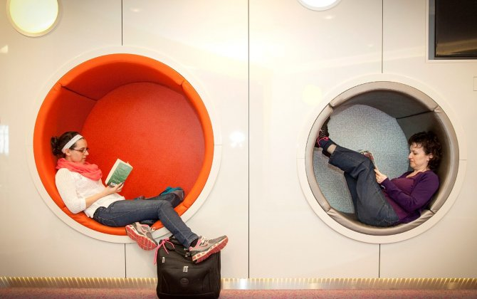 Flying High: Dublin Airport seating pods inspired by Pixar's 'Up'