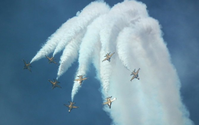 Flying squad perform extraordinary aerobatic performances