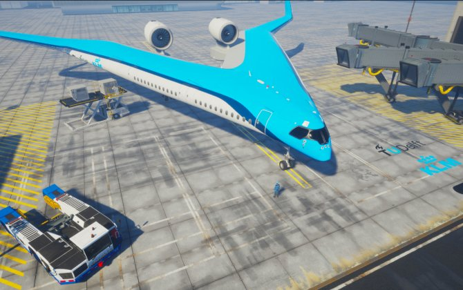 Flying-V to make aviation more sustainable, a joined force - KLM and TU Delft