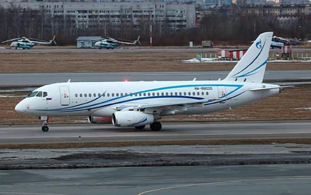 Four Gazprom Avia SSJ100s customized by S7 Technics