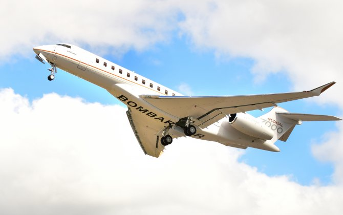 Fourth Global 7000 flight test vehicle successfully completes its maiden flight