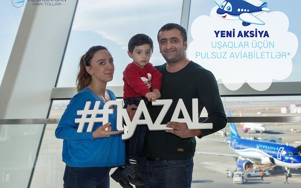 Free air tickets by AZAL for children traveling with parents