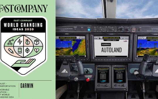 Garmin Autoland named finalist in Fast Company 2020 World Changing Ideas Awards