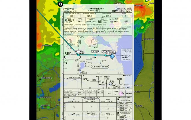 Garmin Pilot™ app adds support to display Jeppesen terminal charts