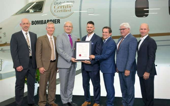 Global 7500 Aircraft Awarded Transport Canada Type Certification