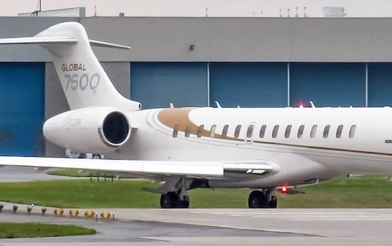 Global 7500 Business Jet Certified by European Aviation Safety Agency