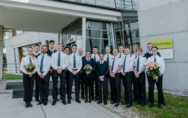 Graduation time - six students got commercial pilot license at airBaltic Pilot Academy