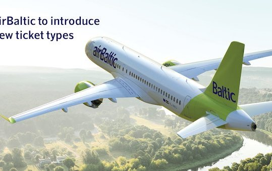 Green tails, green tickets - new ticket types by airBaltic