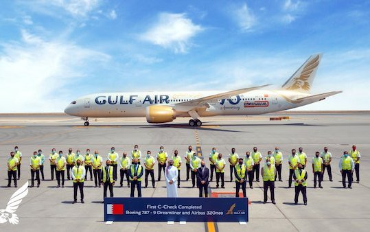 Gulf Air carries out first in-house C Check on Boeing 787 9 Dreamliner & Airbus A320neo