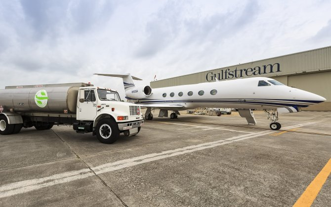 Gulfstream G450 and G550 use renewable fuels for EBACE flights