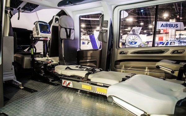 H160 air medical cabin concept by Metro Aviation unveiled in North America