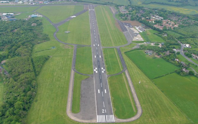 Hangar construction work underway at London Biggin Hill Airport