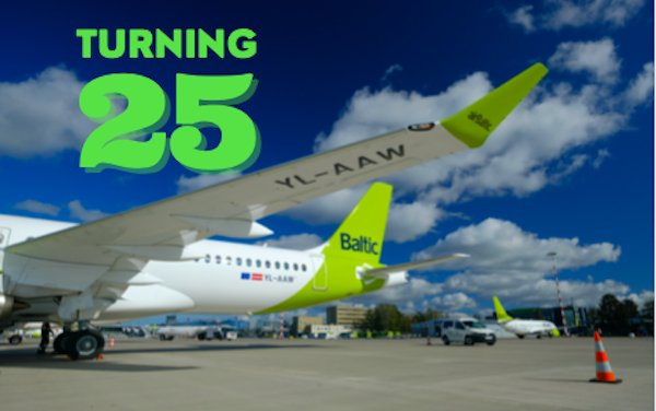Happy 25th anniversary airBaltic!