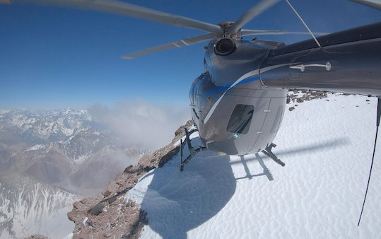 Helicopter on top of the Andes? Yes! The new Airbus H145