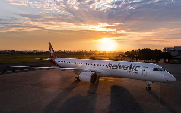 Helvetic Airways took delivery of its first Embraer E195-E2