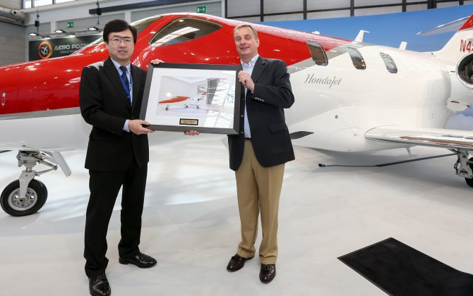 Honda Aircraft Company delivers first HondaJet in Europe