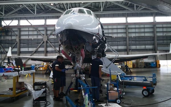 Hong Kong second G650ER 4C inspection completed by Metrojet
