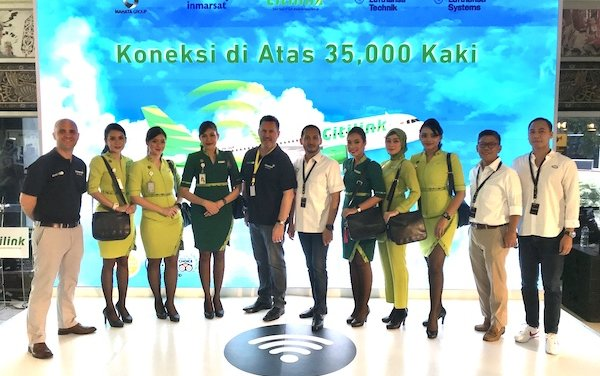 Indonesian low-cost carrier Citilink's first aircraft with Inmarsat's GX Aviation inflight broadband