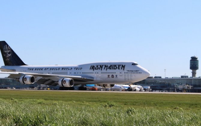 Iron Maiden arrives in Vancouver on private Boeing 747