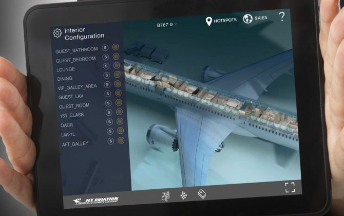 Jet Aviation Basel completions centre launches 3D App JetVision at EBACE 2016