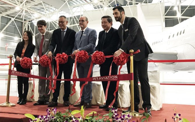 Jet Aviation celebrates grand opening of Hangar 3 at Singapore Airshow 2018