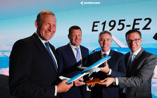KLM Firms Up Order for E195-E2 Jets and Adds Six Further Aircraft