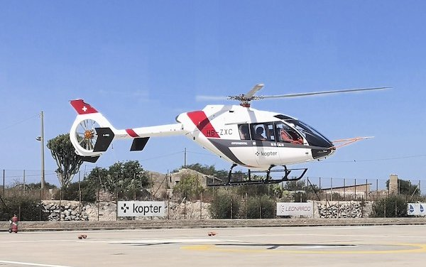 Kopter SH09 helicopter test flights go ahead in Sicily