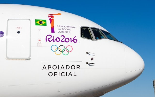 LATAM flies new livery 767 to collect Olympic flame