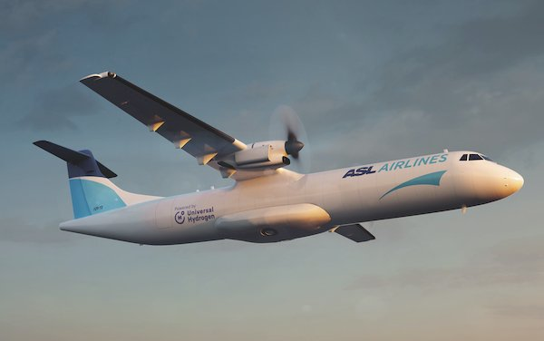 Launch customer for hydrogen-powered ATR 72 cargo aircraft - ASL Aviation Holdings