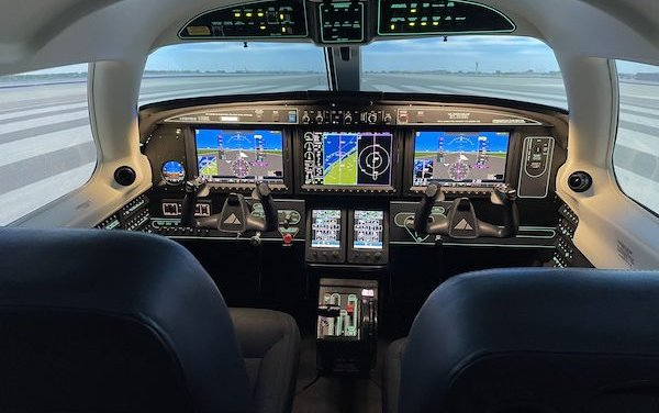 Legacy Flight Training Frasca M600/SLS simulator now FAA certified