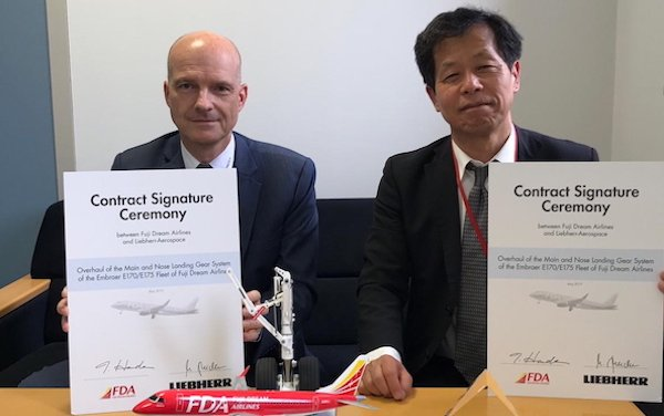Liebherr-Aerospace to Overhaul Landing Gear Systems for Fuji Dream Airlines