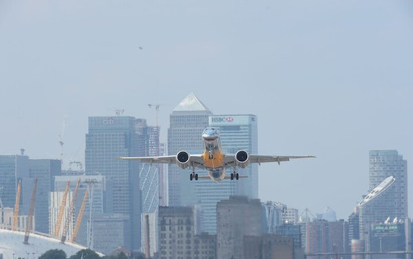 London City Airport certified by EASA for Embraer E190-E2