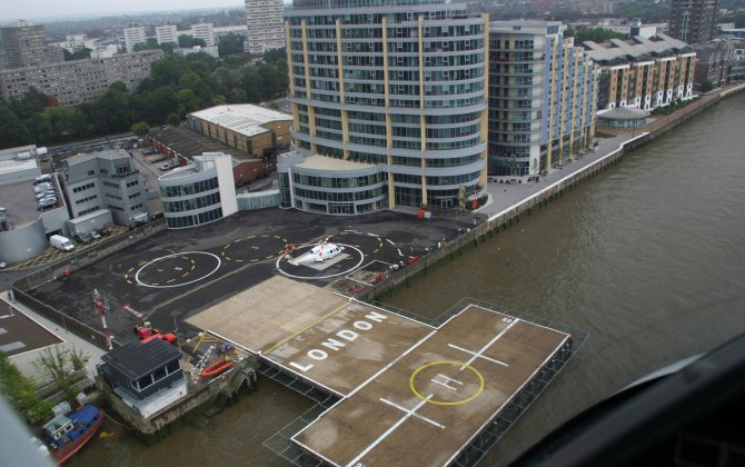 London Heliport reports strongest upturn in movements since 2008; 500,000 movements surpassed