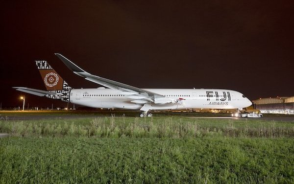 Look at the First Fiji Airways A350 XWB rolled out of paint shop