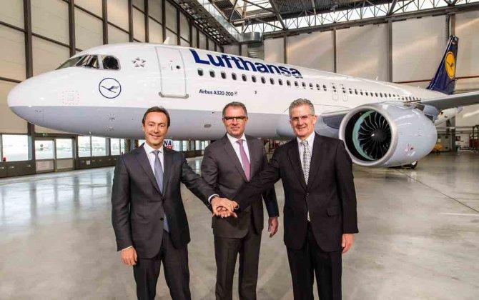Lufthansa A320neo visits Heathrow