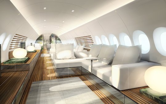 Lufthansa Technik SkyRetreat concept for the Airbus  A220