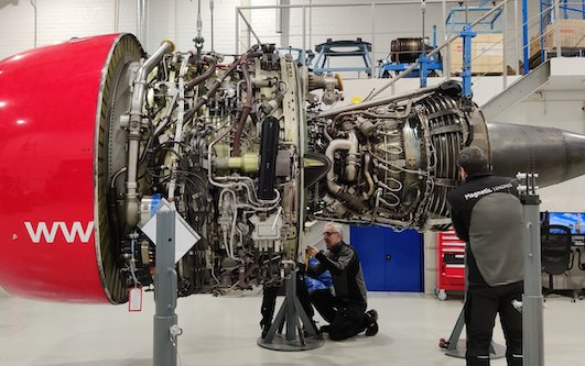 Magnetic Engines performs its first combustion chamber replacement on CFM56-7B engine