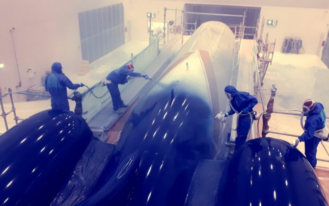 Magnetic MRO completes a painting project for a VVIP Business Jet