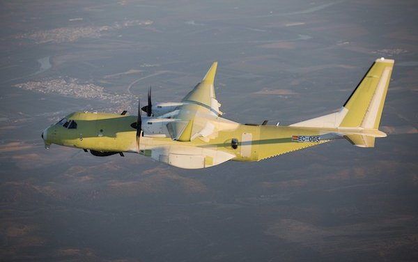 Maiden flight of First Royal Canadian Air Force C295