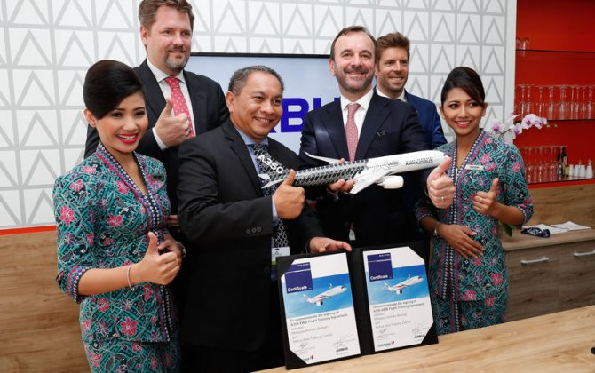 Malaysia Airlines signs with Airbus for A350 XWB flight training