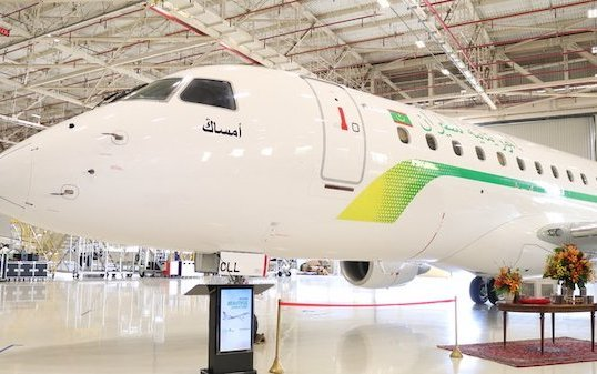 Mauritania Airlines  took the delivery of First Embraer E175