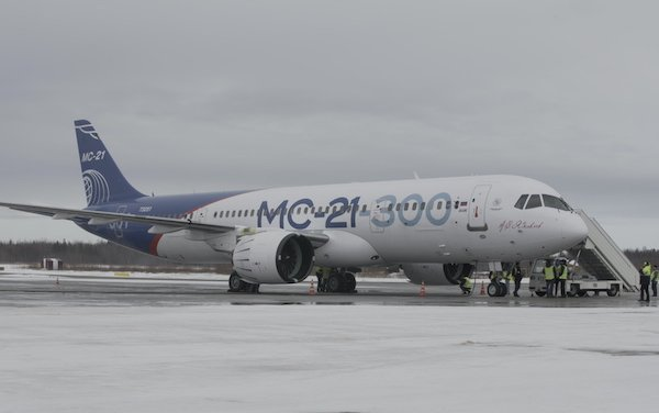 MC-21-300 aircraft flew to Arkhangelsk for testing under natural icing conditions
