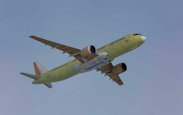 MC-21-300 flight-test aircraft with a high-density passenger cabin flew from Irkutsk to Zhukovsky