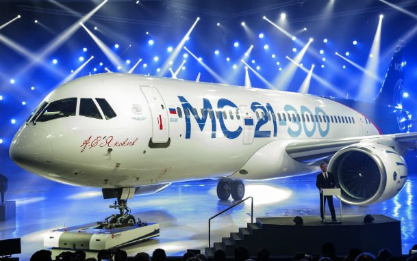 MC-21 aircraft has performed taxiing within the frame of flight tests preparation.