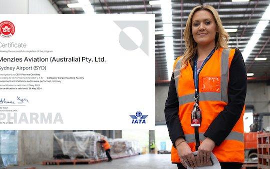 Menzies Cargo Sydney receives IATA pharma accreditation