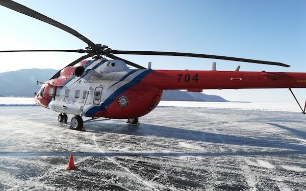 Mi-171A2 reaches record speed at the Baikal Mile festival
