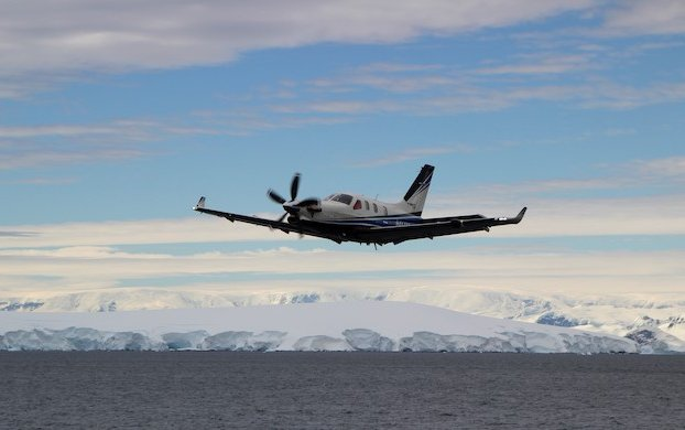 Milestone flights over the South Pole made by Two Daher TBM very fast turboprop aircraft