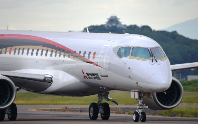 MRJ's First Test Aircraft Completes Ferry Flight to the U.S.
