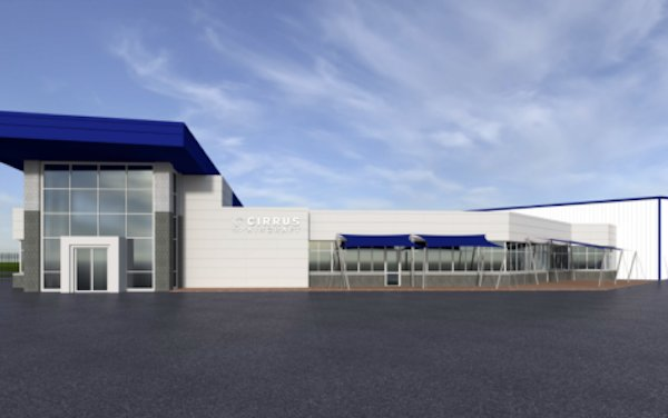 New Cirrus Aircraft Facility in the Dallas Metroplex Area