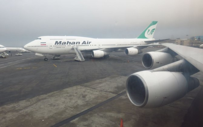 New International Routes in Mahan Air Route Network